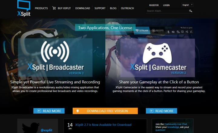 X Split Broadcasting