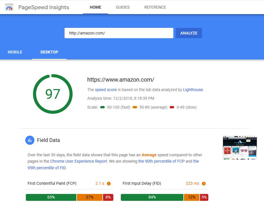 Google Speed Test Website