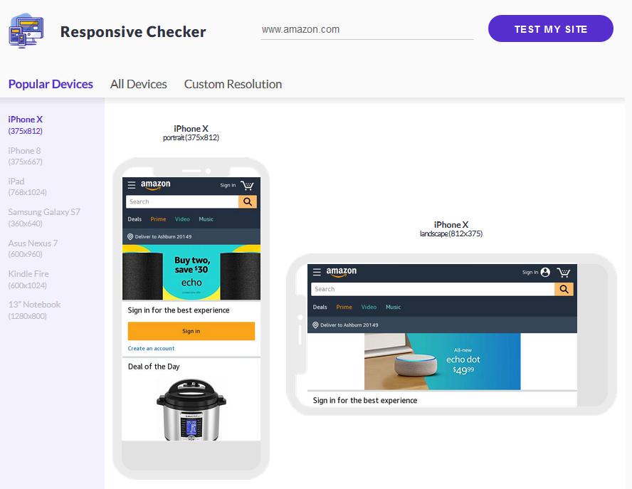 Responsive Checker Website
